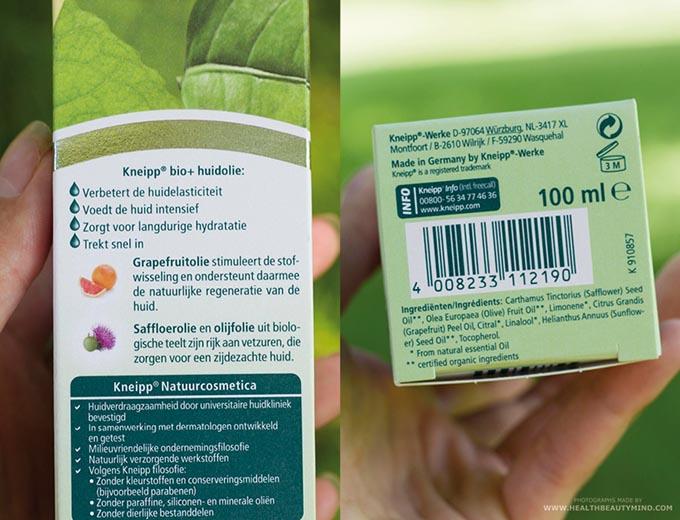 kneipphuidolieingredienten