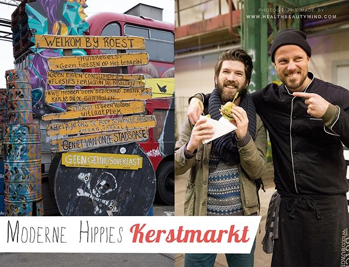 moderne hippies kerstmarkt