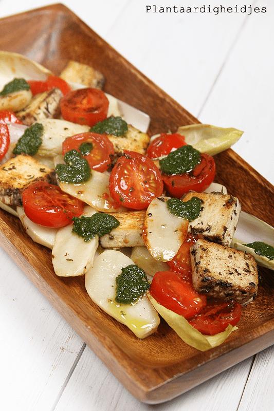 Aardperen met tomaatjes en tofu feta03